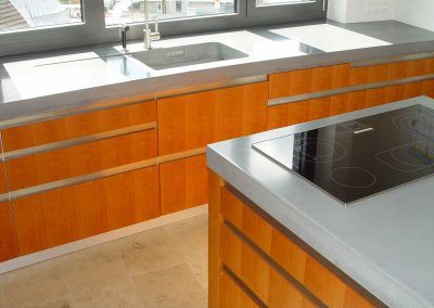 Küche Beton-Holz