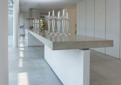 Küche Beton Weiß