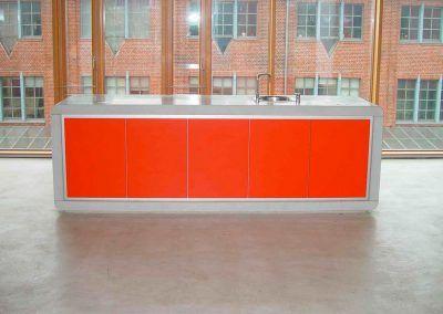 Küche Beton-Orange