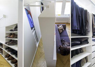 Schlafzimmer Einbauschrank Seitenansicht