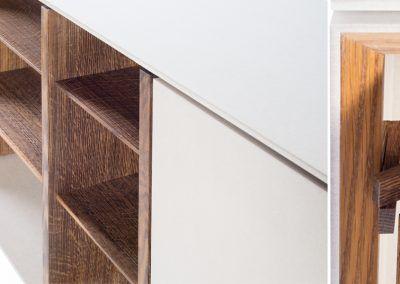Details des beigen Sideboard