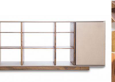 Offenes Sideboard mit Details