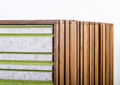 Details der Seitenansicht des Sideboard