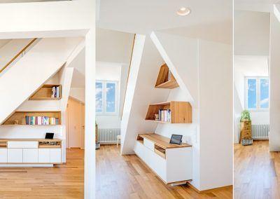 Einbauregal für Wohnräume